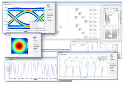 INTERCONNECT: Time and frequency domain simulation of bidirectional
